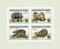 GUINEA 2009 Mi 6714-6717 WWF MINT MINATURE SHEET ** - Guinea (1958-...)