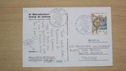 FRIULI CARTOLINA ILLUSTRATA COMMEMORATIVA 5a MARATONA CITTà DI UDINE 2004 CON ANNULLO DELLA MANIFESTAZIONE - Other