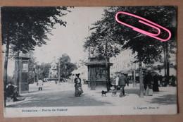 BRUXELLES : C'était Au Temps Où BRUXELLE Bruxellais, Porte De NAMUR Et Le Tram 14,  Très Belle Carte En 1906 - Brussels (City)