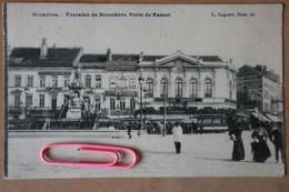 BRUXELLES : Fontaine De BROUCKERE Porte De NAMUR Et Les Cafés MARNIX Et Fontaine De BROUCKERE  En 1908 - Brussels (City)