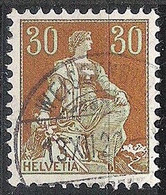 Schweiz Suisse 1920: HELVETIA (1908) Zu 110 Mi 106 Yv 121 Mit Voll-o WEISSENBURG-BAD 13.XII.20 (Zu CHF 0.80) - Used Stamps