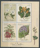 Nouvelle-Zélande 2021 - Sarah Featon, Artiste Botanique - Blocks & Sheetlets