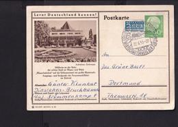 RK1.7 /  BRD Ganzsache Bildpostkarte  Heuss 1955 , Mülheim  /  Stempel  Dinslaken - Cartes Postales Illustrées - Oblitérées