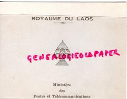ROYAUME DU LAOS - 1 MAI 1971 - CARTE DOUBLE LUTTE CONTRE APARTHEID 1971 MINISTERE POSTES ET TELECOMMUNICATIONS - Laos