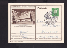 RK1.7 /  BRD Ganzsache Bildpostkarte  Messe Hannover 1959  /  Stempel Hannover - Cartes Postales Illustrées - Oblitérées