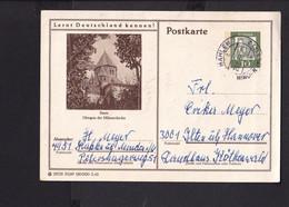 RK1.7 /  BRD Ganzsache Bildpostkarte  Essen 1962 /  Stempel Hahlen Minden - Cartes Postales Illustrées - Oblitérées
