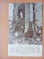 Burnhaupt Le Haut / Oberburnhaupt. CPAIllustrateur. Das Kruzifix Und Muttergottesstatue In Der Zerstörten Kirche - 12453 - Autres Communes