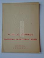 AV115.12  ROMANIA  Al III-lea Congres Al Partidului Muncitoresc Romin  20 Iunie 1960 Bucuresti - Cartas