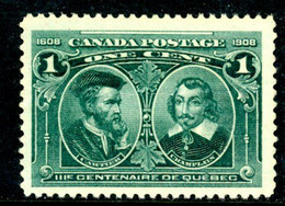 Canada MNH 1908 Cartier And Champlain - Unused Stamps