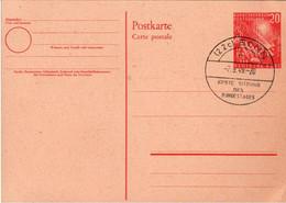 ! Bund Ganzsache Mit Sonderstempel, Erste Sitzung Des Bundestages 7.9.1949 Bonn, Demokratie - Cartes Postales - Oblitérées