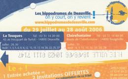 BIGLIETTO INGRESSO IPPODROMO DEAUVILLE (MF1924 - Eintrittskarten