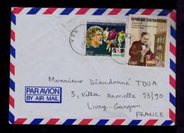 Sp8005 Rep.CENTRAFRICAINE Pasteur 1st Vaccin Contre La Rage Santé Footbal MEXICO'86 Harald Tony Schumacer Players Mailed - Medicina