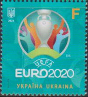 UKRAINE, 2021, MNH, FOOTBALL, EURO 2020 CHAMPIONSHIP,1v - Championnat D'Europe (UEFA)