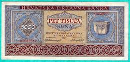 CROATIE - BILLET DE 5000 KUNA 1943 - Croatia