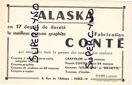 VIEUX PAPIERS BUVARD ALASKA CRAYON COMTE PARIS 6 éme - Papierwaren
