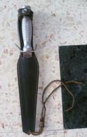 POIGNARD DE CHASSE  ALUMINIUM /INOX ANCIEN DEBUT XXème - Knives/Swords