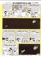 """PLANCHE TINTIN    """" ON A MARCHE SUR LA LUNE  """"  1966 ( 41 ) - Other"""