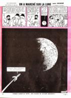 """PLANCHE TINTIN    """" ON A MARCHE SUR LA LUNE  """"  1966 ( 42 ) - Other"""