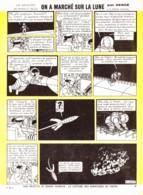 """PLANCHE TINTIN    """" ON A MARCHE SUR LA LUNE  """"  1966 ( 44) - Other"""