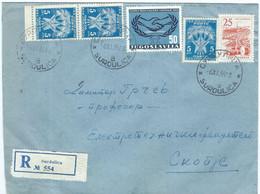 Yugoslavia Serbia Surdulica R - Letter 1965. Via Skopje.PORTO TAX Stamps And 1965 International Cooperation Day - Briefe U. Dokumente