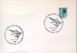 66512 Italia, Special Postmark 1980 Campello Sul Clitunno, Showing Hang Gliding,Drachenfliegen,deltaplane - Andere (Lucht)