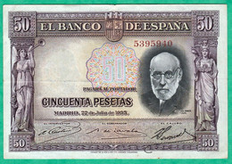 ESPAGNE - BILLET DE 50 PESETAS 1935 - 50 Pesetas
