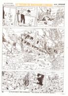 """PLANCHE TINTIN   """" LE TRESOR DE RACKHAM LE ROUGE """"  1963 ( 21 ) - Other"""