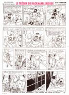 """PLANCHE TINTIN   """" LE TRESOR DE RACKHAM LE ROUGE """"  1963 ( 22 ) - Other"""