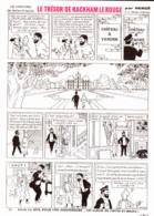 """PLANCHE TINTIN   """" LE TRESOR DE RACKHAM LE ROUGE """"  1963 ( 24 ) - Other"""