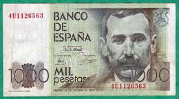 ESPAGNE - BILLET DE 1000 PESETAS 1979 - [ 4] 1975-… : Juan Carlos I