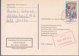 Duitsland 1978, Abstempelung Stelle Buchwedel - Lettres & Documents