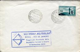66522 Italia, Special Cachet For The Special Flight ALITALIA  Roma  Rio De Janeiro  3 Sepy. 1958 - Andere (Lucht)