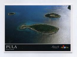 Pula, Istrie. Brijuni Islands. Croatie Kroatien Hrvatska. Vue Aérienne, île En Forme De Poisson. Fish-shaped Island - Kroatien