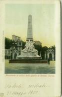 TORINO - MONUMENTO AI CADUTI DELLA GUERRA DI CRIMEA - EDIZIONE KUNZLI - SPEDITA 1900 (7958) - Exhibitions