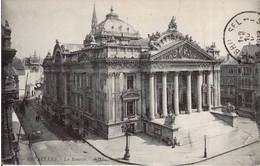 BRUXELLES - La Bourse - Oblitération De 1912 - Monuments