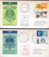 66530 Italia/brasil, 2 Special Covers  With Special Postmark 1974 For The Special Flight With DC-10 Roma S.paolo - Andere (Lucht)