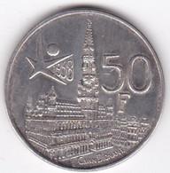 Belgique. 50 Francs 1958. Expo Universelle. Légende Française. En Argent - 08. 50 Franchi