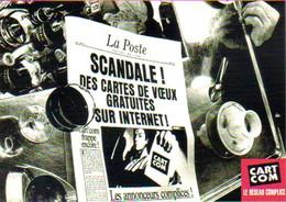 """Carte Postale """"Cart'Com"""" Série Publicité Pour Cart'Com, Scandale ! Des Cartes De Voeux Gratuites Sur Internet (La Poste) - Advertising"""