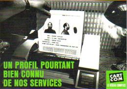 """Carte Postale """"Cart'Com"""" Série """"Publicité Pour Cart'Com"""" - Un Profil Pourtant Bien Connu De Nos Services - Advertising"""