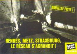 """Carte Postale """"Cart'Com"""" Série """"Publicité Pour Cart'Com"""" - Rennes, Metz, Strasbourg, Le Réseau S'agrandit ! - Advertising"""