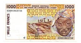 Afrique De L Ouest   - 1000 Francs Sign 31  -  état  TTB  -  Burkina Faso - West African States