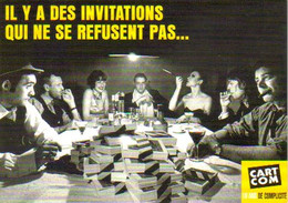 """Carte Postale """"Cart'Com"""" Série """"Publicité Pour Cart'Com"""" (paquets De Cartes Postales Sur Une Table) Cart'Com A 10 Ans - Advertising"""