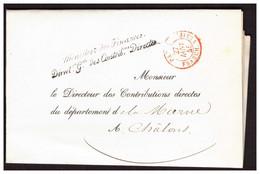 Lettre Du Ministre Des Finances PARIS Pour CHALONS Du 27.01.1845. - 1801-1848: Voorlopers XIX