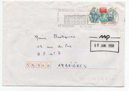 Timbre Seul Sur Lettre - YT 3103 Corsaires - Oblitération 95 St Gratien Du 06/01/1998 - 1961-....