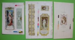 Belles Publicités De Parfums Illustrés épreuves D'imprimeur Beautiful Illustrated Perfume Advertisements Printer Proofs - Unclassified
