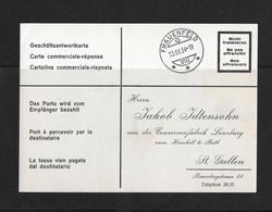 1934 HEIMAT ST.GALLEN → Geschäftsantwortkarte Confitüren Lenzburg Von FRAUENFELD Nach St.Gallen - Briefe U. Dokumente
