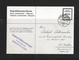 1934 HEIMAT ST.GALLEN → Geschäftsantwortkarte Confitüren Lenzburg Von WEINFELDEN Nach St.Gallen - Briefe U. Dokumente
