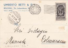 """1934 Stampe Con Cent 10 """"decennale Fiume"""" - Marcophilia"""