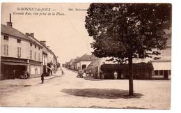 Saint Bonnet De Joux - Grande Rue  , Vue Prise De La Place - CPA° - Gk - Other Municipalities
