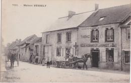 Cf - Belle Et Rare Cpa THIL - Maison VESSELY (Epicerie, Tabac, Café) - Altri Comuni